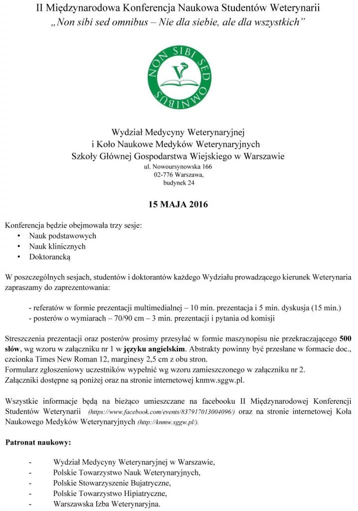 Zaproszenie Polska KNMW 2016F-1